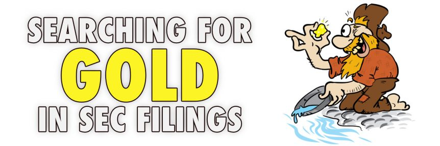 Searching for Gold in SEC Filings